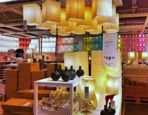 1 góc trang trí của cửa hàng ikea