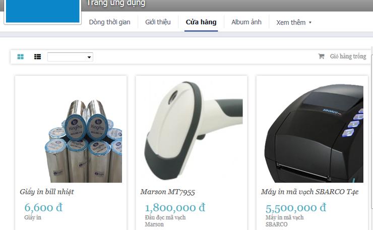 Gian hàng trên facebook - tạo shop bán hàng trên facebook với SUNO Page