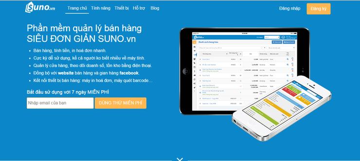 Phần mềm quản lý bán hàng SUNO Siêu đơn giản
