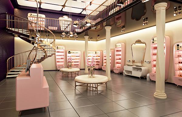 muốn trang trí shop mỹ phẩm hiệu quả cần đi kèm với nội thất đẹp