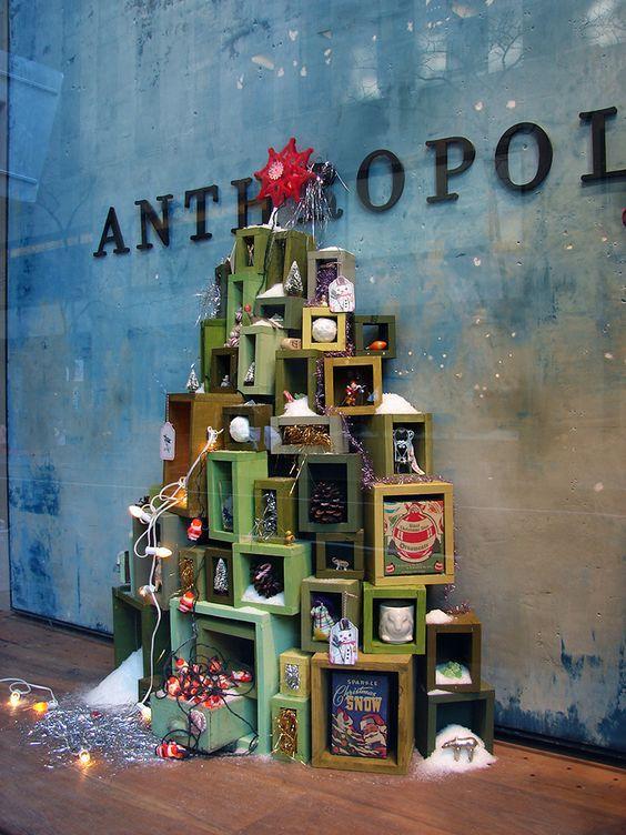 trang trí cửa hàng mùa giáng sinh