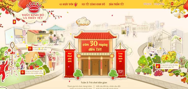 Ý tưởng thiết kế website ngày tết cho cửa hàng