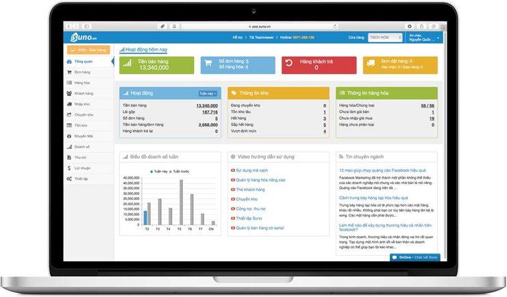 tính năng Báo cáo trên phần mềm quản lý bán hàng