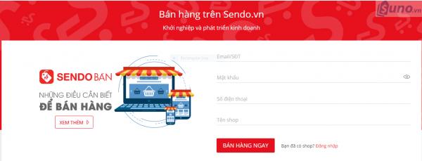 Bạn nhập các thông tin theo yêu cầu như email/ SĐT, mật khẩu, tên Shop để đăng ký tài khoản bán hàng