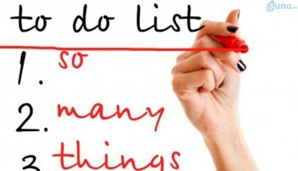 Liệt kê danh sách những việc cần làm
