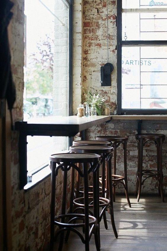 trang trí quán cà phê theo phong cách công nghiệp 5