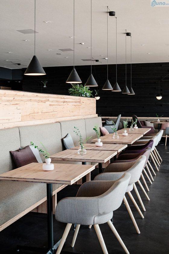 trang trí quán cà phê theo phong cách hiện đại