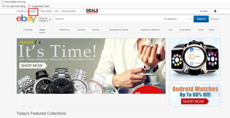 Hướng dẫn cách đăng ký bán hàng trên Ebay