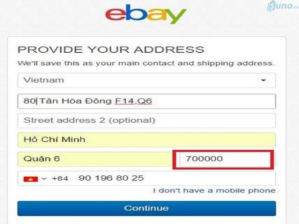 đăng kí bán hàng trên Ebay