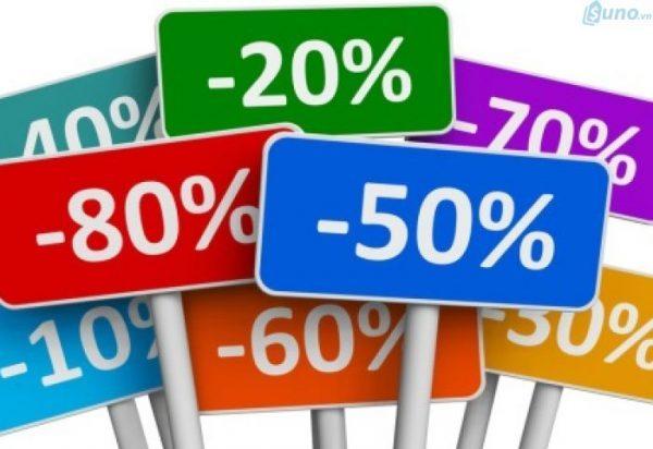 Khuyến mãi bằng hình thức giảm giá bán hàng