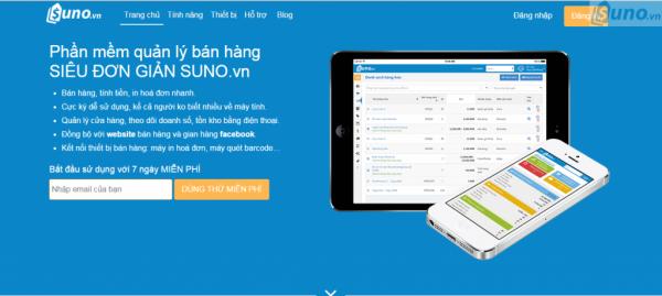 Phần mềm quản lý bán hàng SIÊU ĐƠN GIẢN SUNOvn