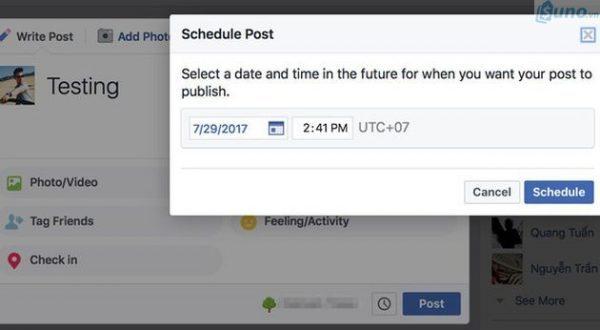 """tận dụng tính năng """"lên lịch"""" trên FB để đăng bài hiệu quả"""