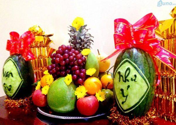 Những loại trái cây chưng Tết đem lại may mắn