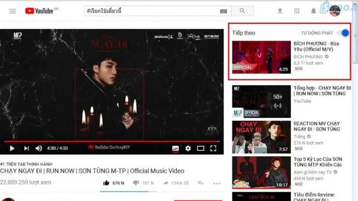 """MV """"Chạy ngay đi"""" giữ vị trí #1 tab thịnh hành và MV Bùa yêu xuất hiện tại vị trí #2 tab thịnh hành Youtube. Nhờ vào vị trí cạnh nhau như vậy nên khán giá dễ dàng bị thu hút và tò mò xem ngay MV tiếp theo"""