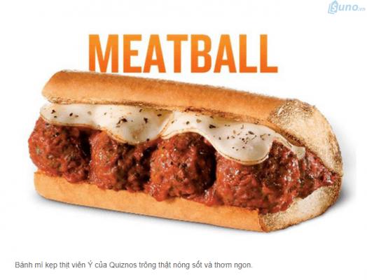 """Một trang web bán đồ ăn online đã đăng tải hình ảnh kèm theo mô tả bên dưới sử dụng từ ngữ kích thích vị giác như """"nóng sốt"""", """"thơm ngon"""" khiến cho khách hàng cảm giác muốn ăn ngay món này."""