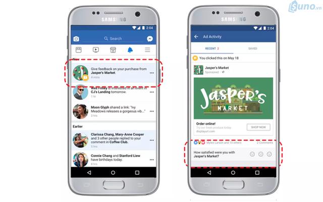 Từ giờ, mỗi lần bạn mua hàng từ các doanh nghiệp sau khi click vào quảng cáo của họ. Facebook sẽ chủ động gửi thông báo tới bạn để hỏi về trải nghiệm mua sắm như thế nào