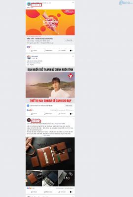 Cứ lướt một loạt bảng tin trên Facebook thì cứ cách một, hai tin bình thường lại thấy tin quảng cáo