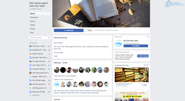 Mạng xã hội giúp quảng bá cửa hàng sách
