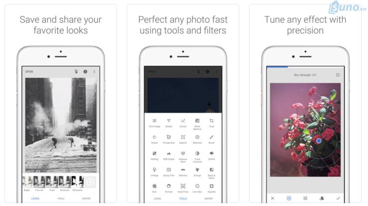 Snapseed là ứng dụng chỉnh sửa ảnh chuyên nghiệp để bán hàng trên instagram