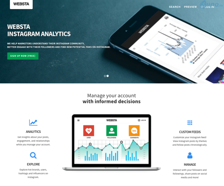 Ứng dụng webstagram