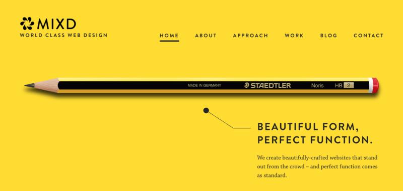 Một website thiết kế theo xu hướng chủ nghĩa tối giản