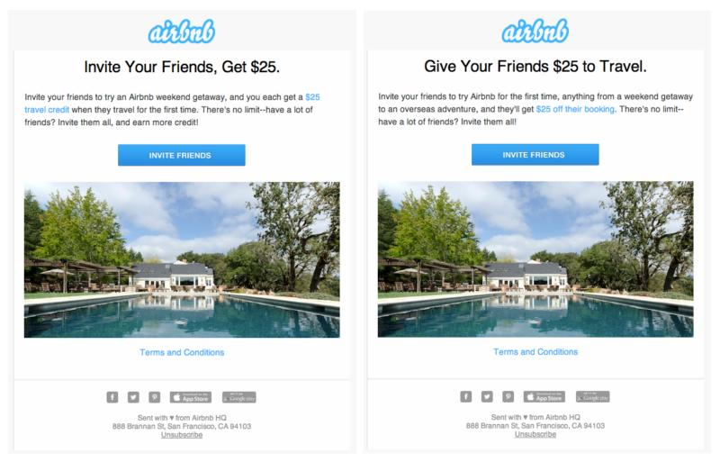 Công ty  Airbnb là minh chứng cho việc áp dụng thành công hình thức Tặng mã giảm giá để tạo viral giúp thu hút khách hàng