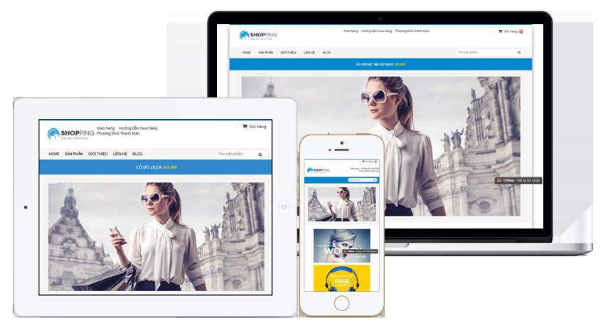 web bán hàng cho cửa hàng thời trang