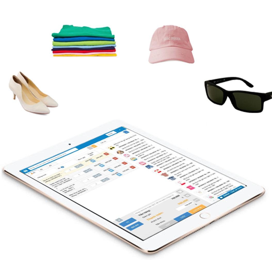 Phần mềm quản lý shop quần áo, mũ nón, giày dép, mắt kính