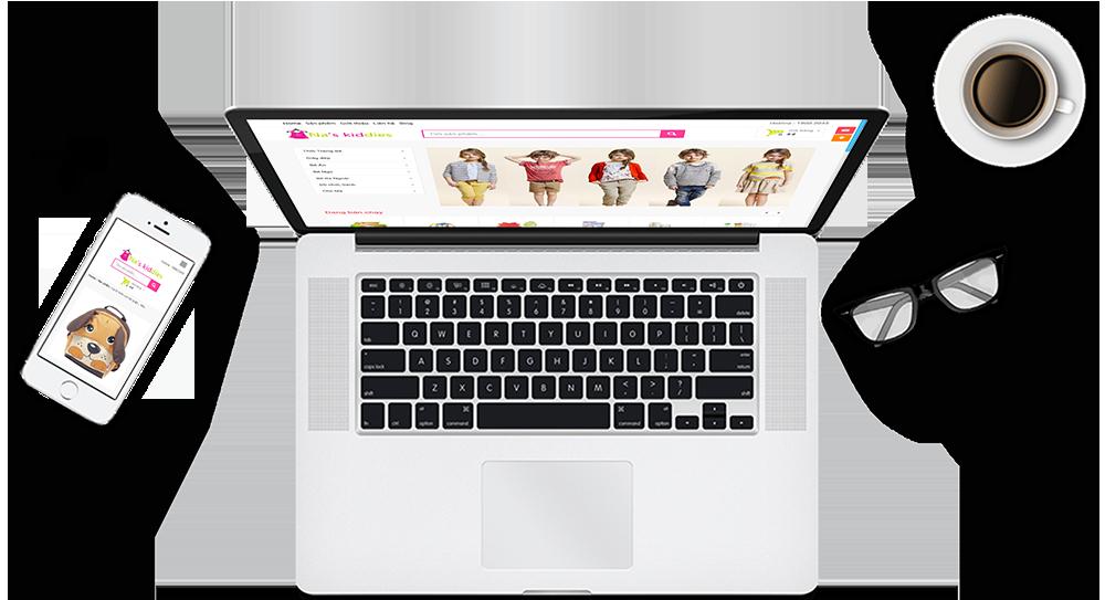 website bán hàng mẹ & bé