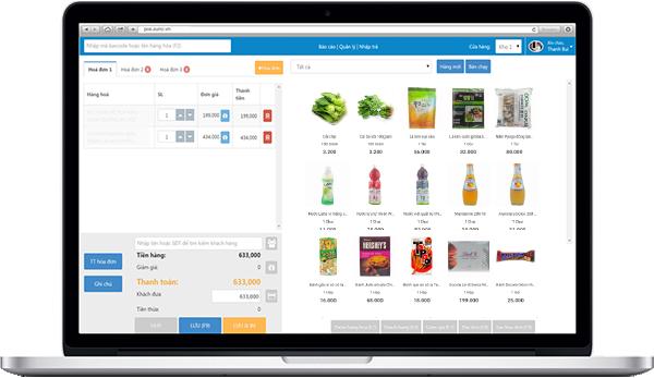 pos bán hàng - phần mềm quản lý siêu thị mini