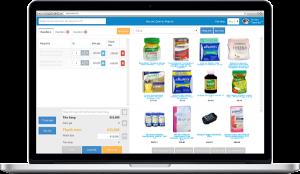 Màn hình POS bán hàng - phần mềm quản lý cửa hàng thuốc